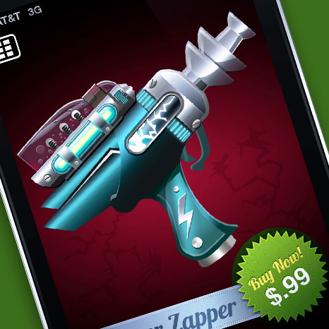 Tap and Zap, an iOS Raygun Shooter App